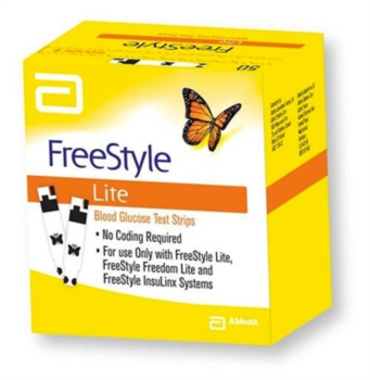 Abbott Diabetes Care Linea Controllo Glicemia Freestyle Lite 25 Strisce Reattive