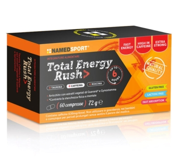 Named Sport Linea Sportivi Total Energy Rush Integratore Alimentare 60 Compresse