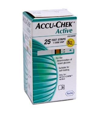 Accu-Chek Linea Controllo Glicemia Active 25 Strisce Rilevatrici Plasma
