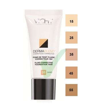 Vichy Linea Dermablend Fond De Teint Fluide Correcteur 16 Ore 30 ml Colore 15