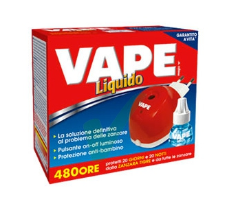 Vape Linea Insetti Volanti Insetto-Repellente Emanatore con Ricarica Liquida