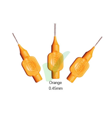 TePe Linea Cura Dentale Quotidiana 6 Scovolini Interdentali 0,45 Colore Arancio