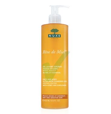 Nuxe Linea Detersione Viso Gel Lavant Surgras Gel Struccante Detergente 400 ml