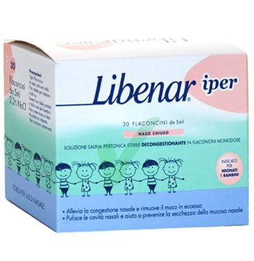 Libenar Linea Pulizia e Salute del Naso Soluzione Ipertonica 30 Flaconcini 5 ml