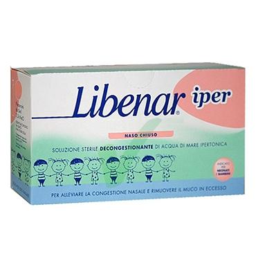 Libenar Linea Pulizia e Salute del Naso Soluzione Ipertonica 18 Flaconcini 5 ml