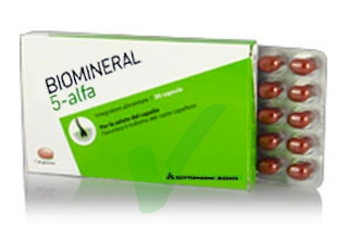Biomineral Linea Hair Terapy 5-Alfa Integratore Capelli Deboli 30 Capsule