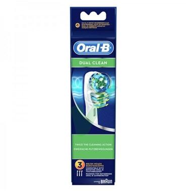 Oral-B Linea Igiene Dentale Quotidiana Dual Clean 3 Spazzolini di Ricambio