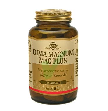 Solgar Linea Vitamine Minerali Dima Magnum Mag Plus Integratore 100 Tavolette