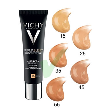 Vichy Make-up Linea Dermablend 3D Correction Fondotinta Elevata Coprenza 30ml 55