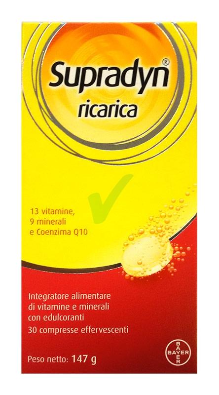 Supradyn Linea Vitamine Minerali Ricarica Integratore 30 Compresse Effervescenti
