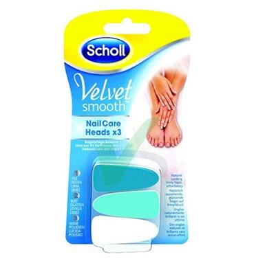 Scholl Linea Nail Care Velvet Smooth Lime di Ricambio Kit Elettronico Levigante