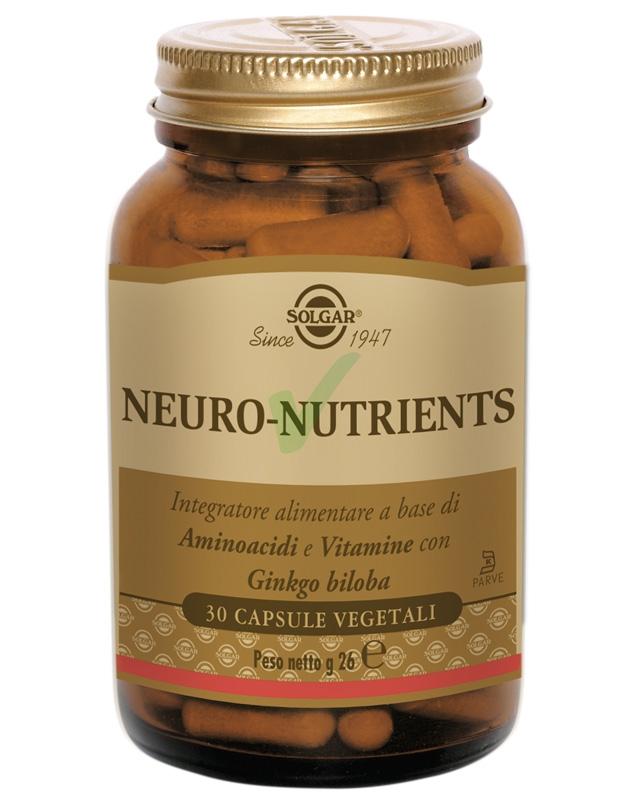 Solgar Linea Mente Sana e Tonica Neuro-Nutrients Integratore 30 Capsule