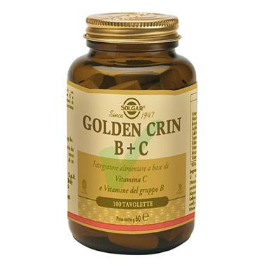 Solgar Linea Vitamine Golden Crin B+C Integratore Alimentare 100 Tavolette