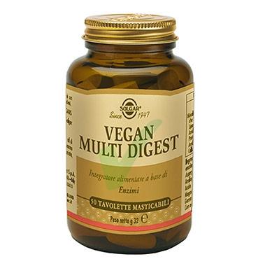 Solgar Linea Digestione Sana Vegan Multi Digest Integratore 50 Tavolette Mastic