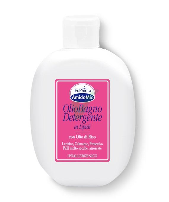 EuPhidra Linea AmidoMio Olio Bagno Detergente Pelli Sensibili 200 ml