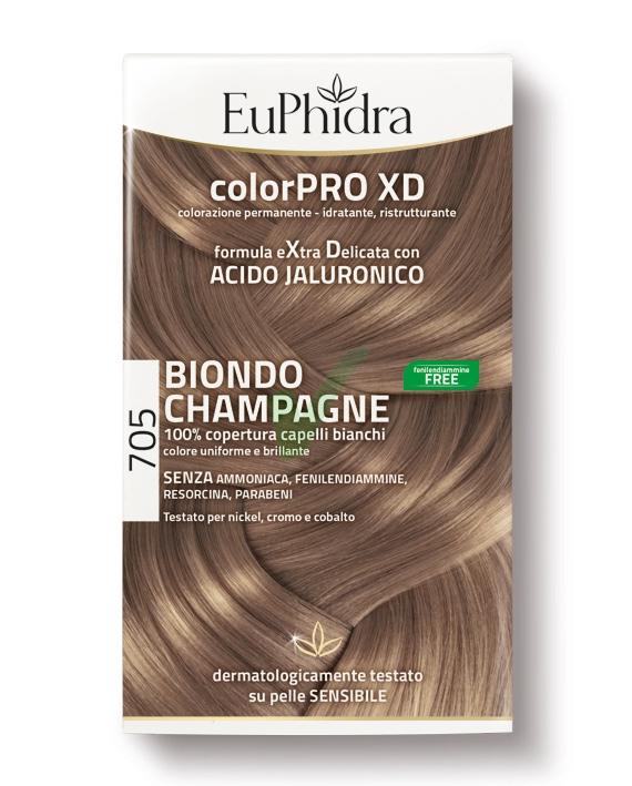 EuPhidra Linea ColorPRO XD Colorazione Extra-Delixata 705 Biondo Champagne