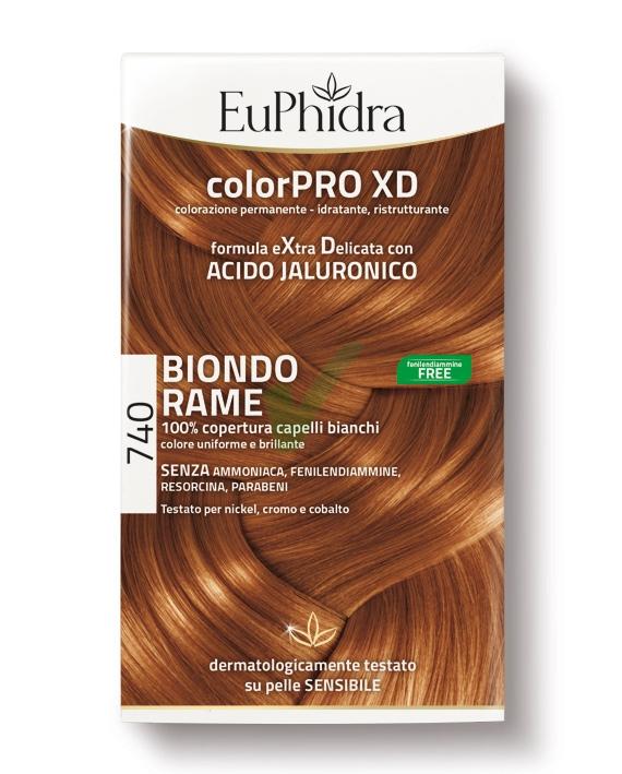 EuPhidra Linea ColorPRO XD Colorazione Extra-Delixata 740 Biondo Rame