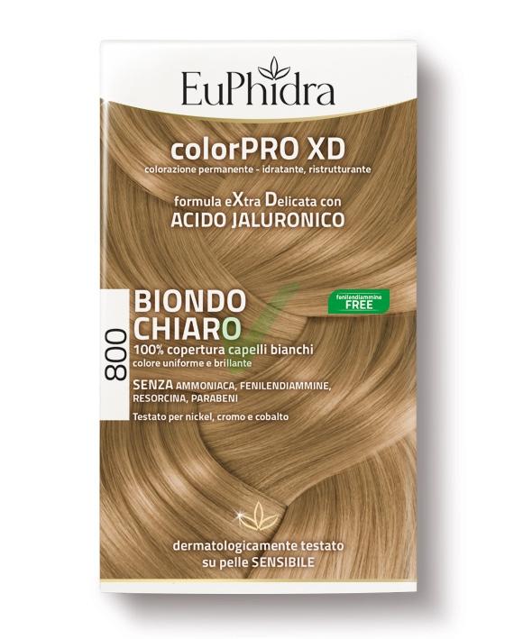 EuPhidra Linea ColorPRO XD Colorazione Extra-Delixata 800 Biondo Chiaro