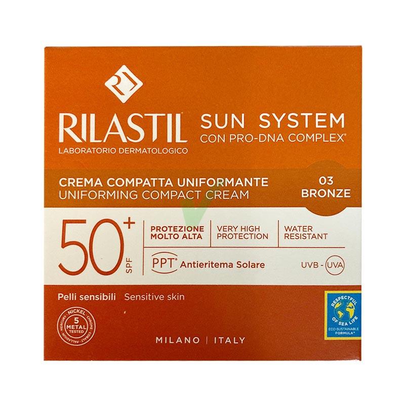 Rilastil Linea Sun System PPT SPF50+ Color Corrector Crema Compatta Bronze 03