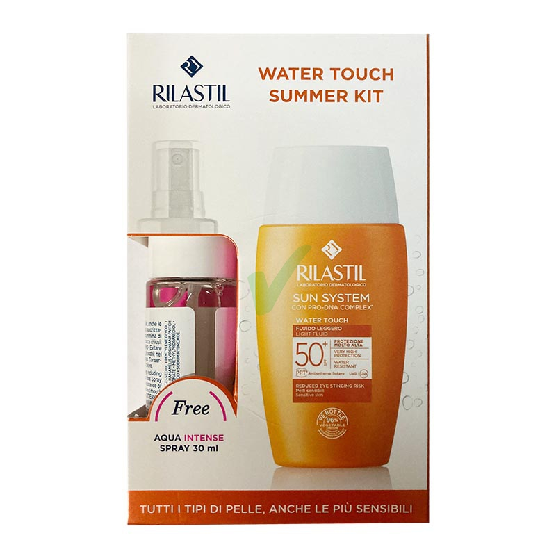 Rilastil Linea Sun System SPF50+ Cofanetto Summer Kit Water Touch +Aqua Intense
