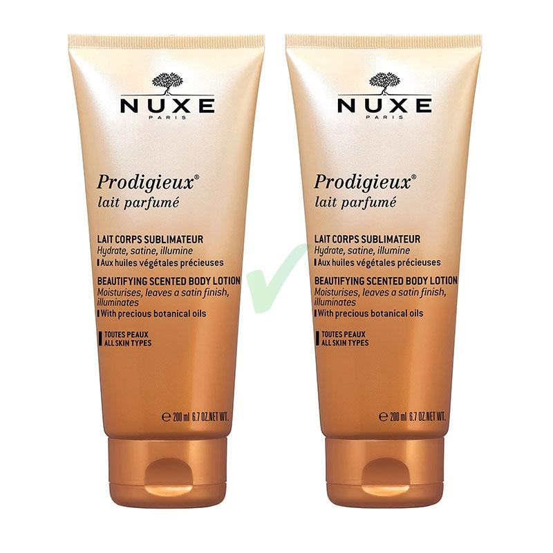 Nuxe Linea Prodigieux Lait Parfume Latte Corpo Setificante Idratante 2x200 ml