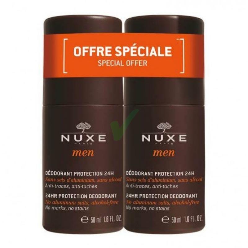 Nuxe Linea Men Deodorante Uomo Protezione Corpo 24h Duo Roll-on 2x50 ml